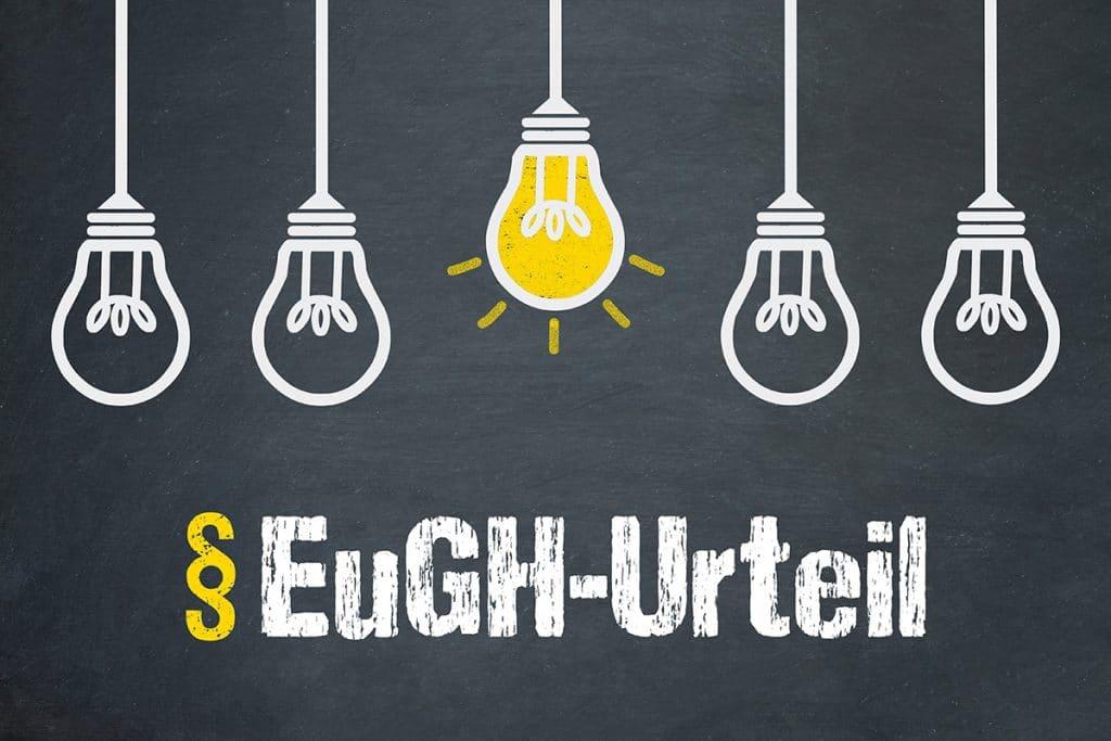 Externer Datenschutzbeautragter Berlin - EuGH-Urteil / Tafel mit Glühbirnen